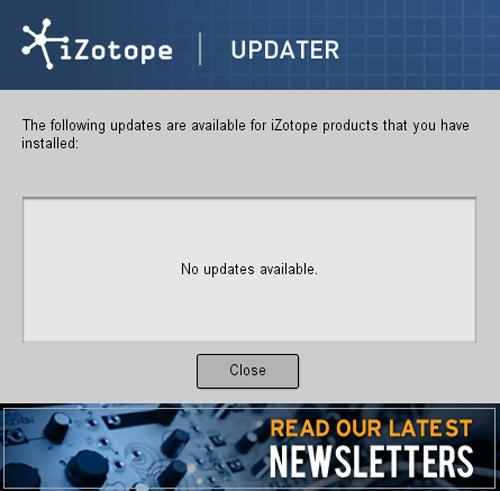Izotope Updater