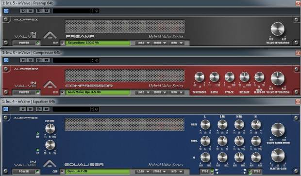 Recording Audified InValve Plug-ins