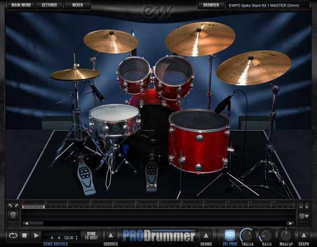 Recording: EastWest ProDrummer