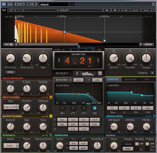 Recording: Waves H-Reverb