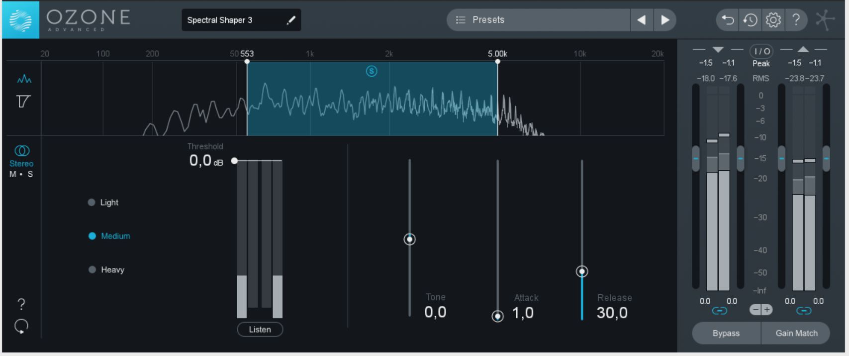 Recording und Studiotechnik: Tutorial zu iZotope Ozone 8 Spectral Shaper als Lo-Fi-Effekt